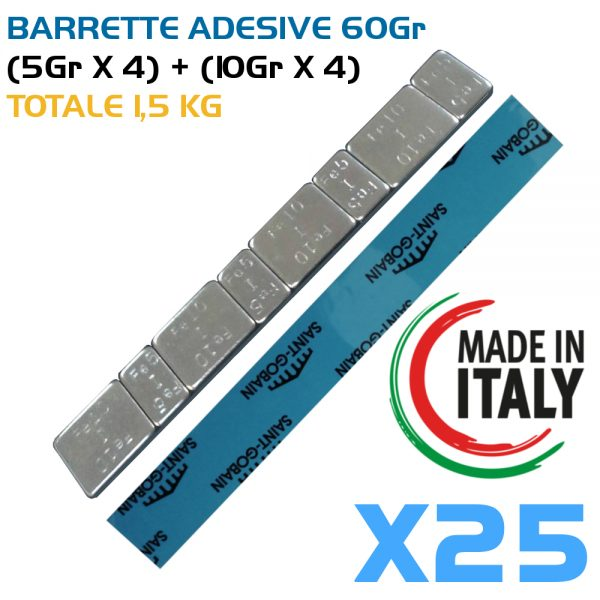 25 Barrette adesive
