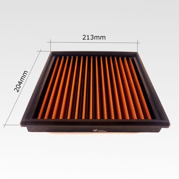 Misure Filtro sportivo rigenerabile Sprint Filter P415S