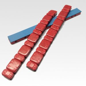 Pesi piombi contrappesi adesivi ROSSO per equilibratura cerchi moto